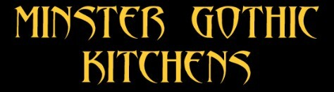 Banner saying MINSTER GOTHIC KITCHENS