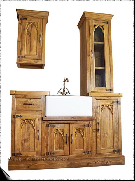 Minster Gothic Rustic Kitchen Ensemble. Click on this photo for a larger image.