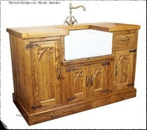 "Minster Gothic Rustic Kitchen Belfast Sink Unit.   Normal price £1,745.00 (not including sink & taps).  Price after ""Test Pilot"" introductory discount £1,485.00"