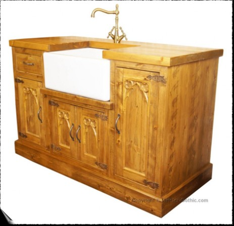 Minster Gothic Rustic Kitchen Belfast Sink Unit. Click on the photo for a larger image