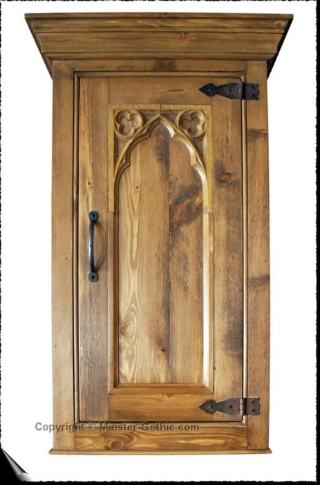 Minster Gothic Rustic 400mm Wall Cupboard. Click on the photo for a larger image.
