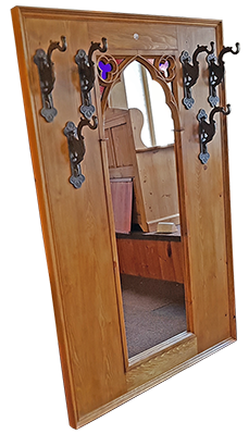 "Minster Gothic Classic ""Robin"" combined Hall-Rack-Mirror"