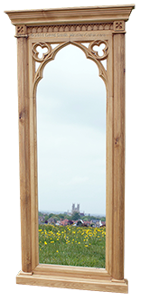 Minster Gothic Classic Tall Dressing Mirror