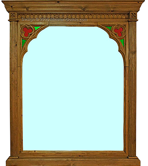 Minster Gothic Classic Overmantle Mirror