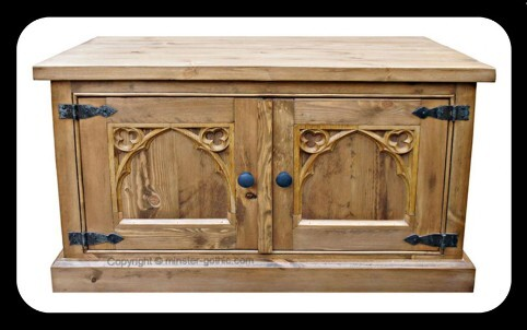 Minster Rustic Gothic TV / Utility Cabinet