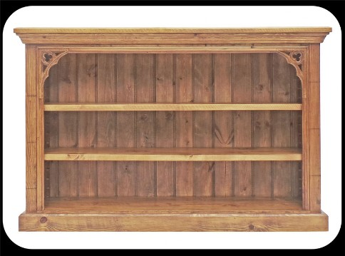 "Minster Gothic Rustic ""Jamieson"" Lowboy Bookcase"
